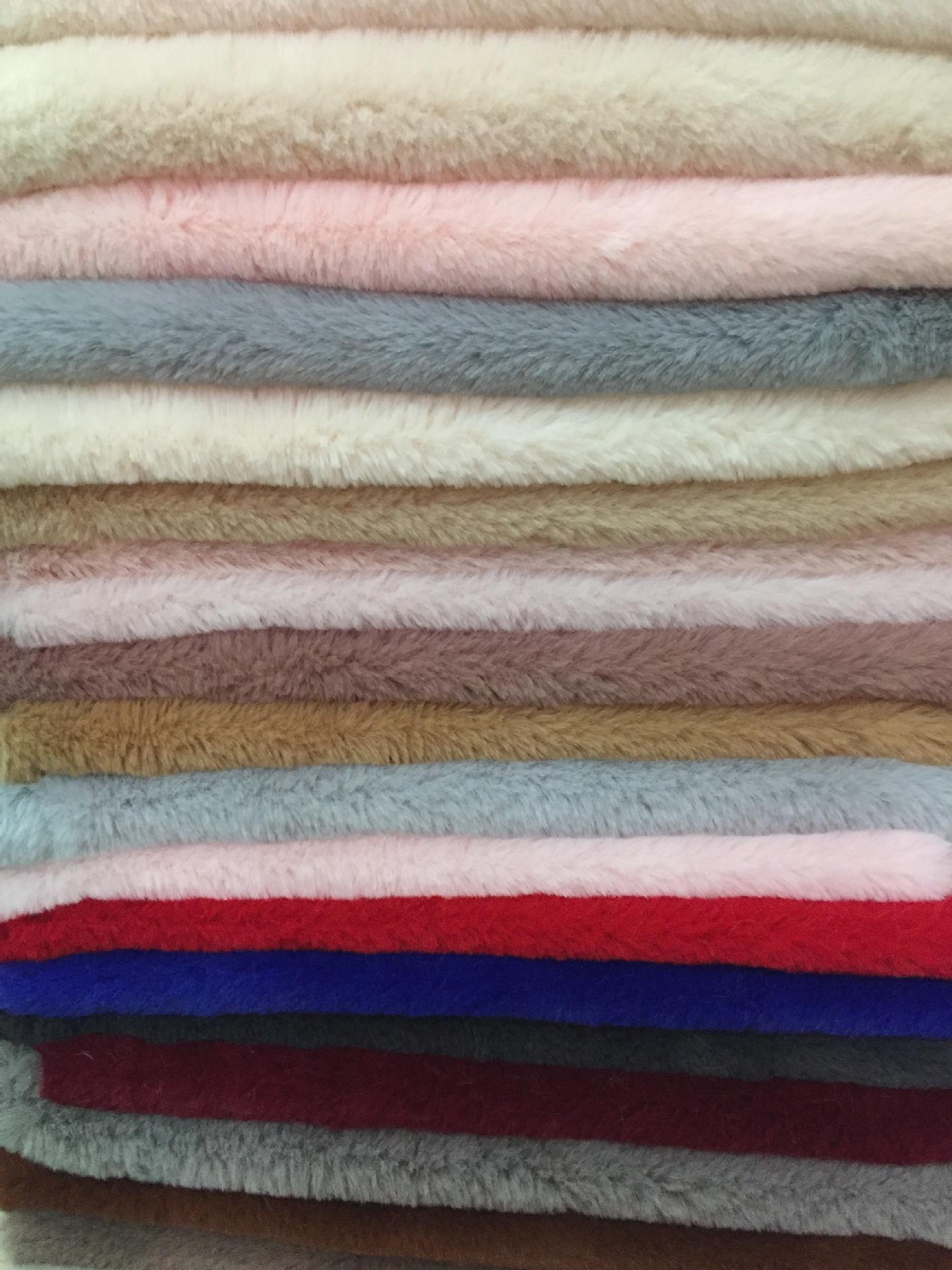 OLOEY NLSX vải Spot siêu matt thỏ lông lớn vải 15MM giả lông thỏ quần áo đồ chơi nhà flannel dày lôn