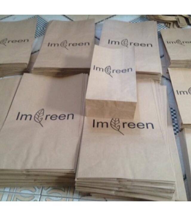 Túi giấy 100 Túi Giấy Kraft Đlg 80gsm, Size S,M,L