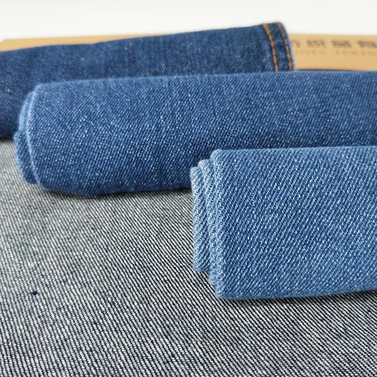 TONGJUXIANG Vải Jean 10 * 10 cotton denim vải than mỏ dụng cụ denim vải hành lý vải denim giặt10 * 1