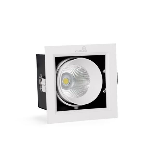 Đèn rọi ĐÈN LED SPOTLIGHT ĐƠN ÂM TRẦN RỌI HỘP - KINGLED 10W (GL-1*10-V120)