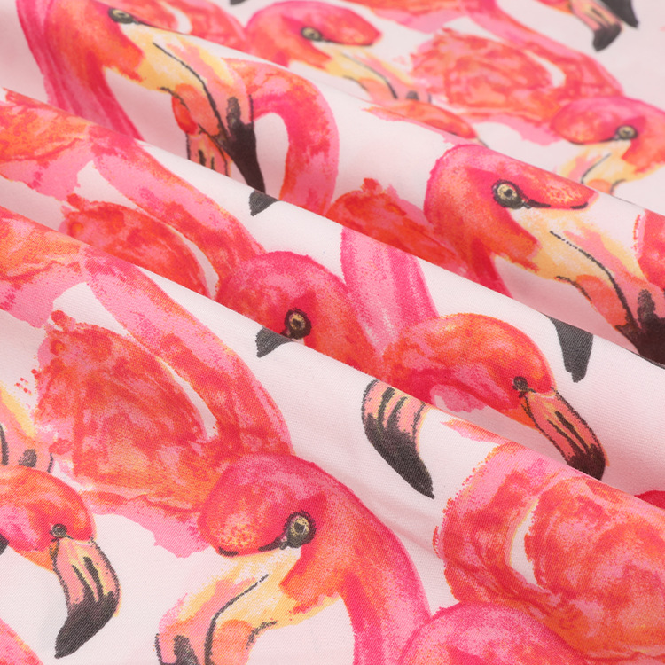 XINGAF NLSX vải In xử lý tùy chỉnh polyester da lộn bãi biển quần vải mùa xuân và mùa hè phim hoạt h