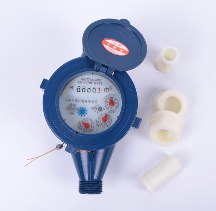 Đồng hồ nước DN15/4 rotor loại nhựa gia dụng