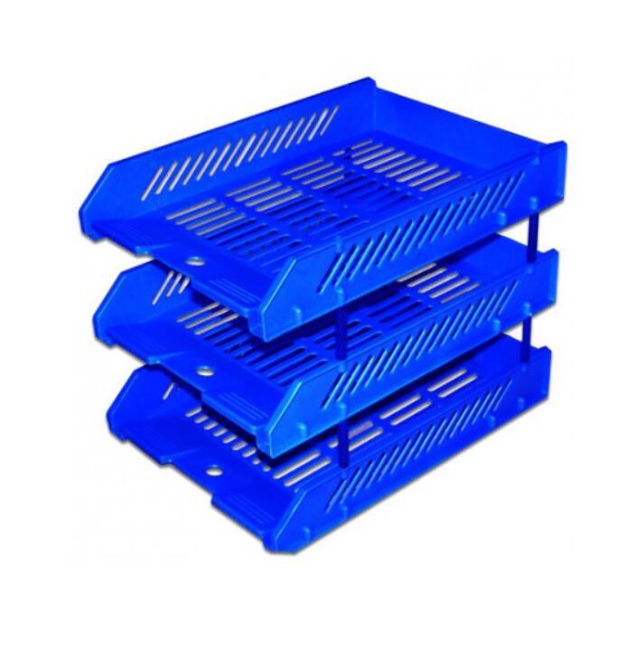 Kệ hồ sơ combo 7 kệ nhựa ráp hồ sơ 3 tấng giá rẻ