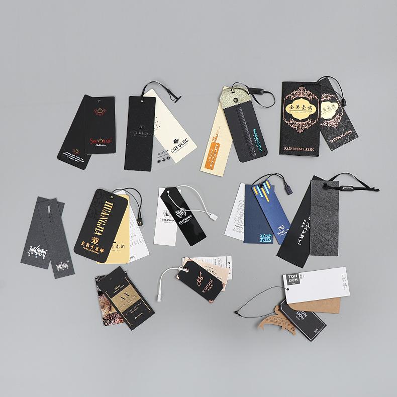 Chuỗi tag , Tag logo Thẻ giấy kraft in cá tính thẻ trống tùy chỉnh quần áo phụ kiện thẻ sáng tạo tre