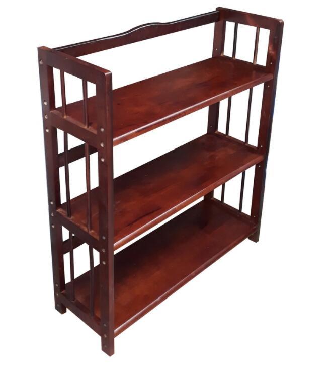 Kệ hồ sơ Kệ đựng sách, hồ sơ 3 tầng rộng 80cm bằng gỗ màu nâu