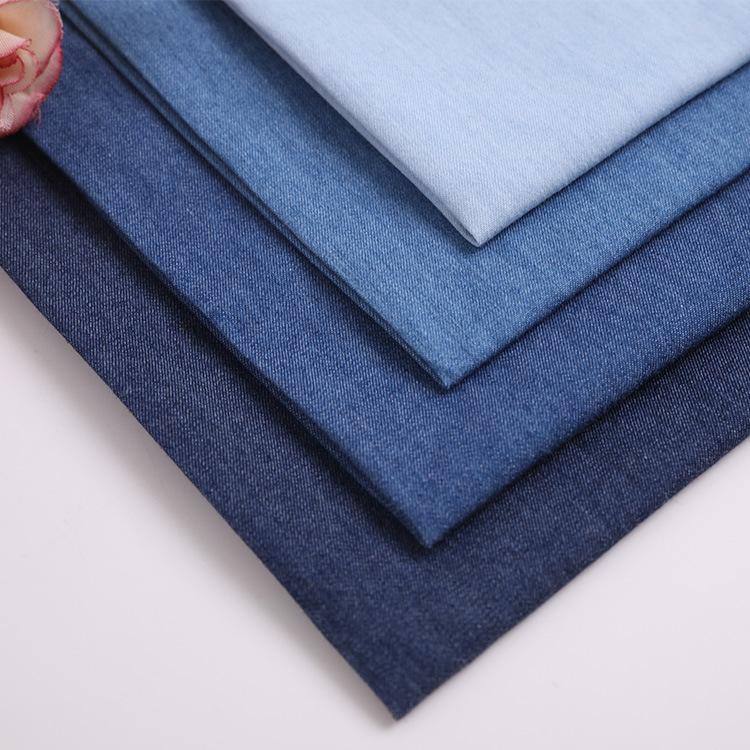 TIANXIANG Vải Jean Cotton mỏng giặt denim mùa hè trẻ em chống muỗi quần áo sơ mi vải denim trẻ em