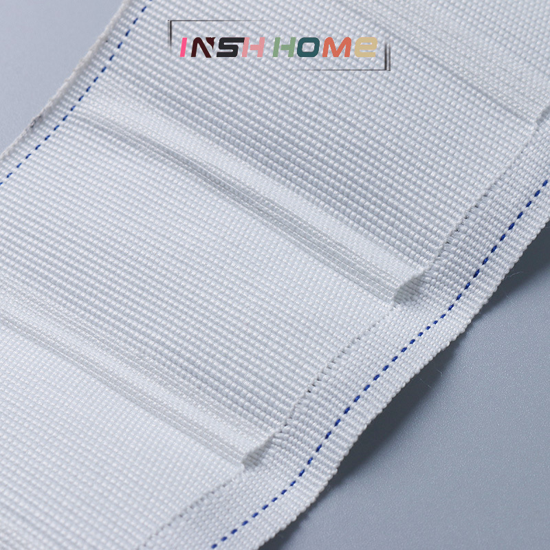 Insh home Dây cột rèm Nhà máy trực tiếp rèm móc vải băng bông dày móc vải vành đai bốn móng móc mã h