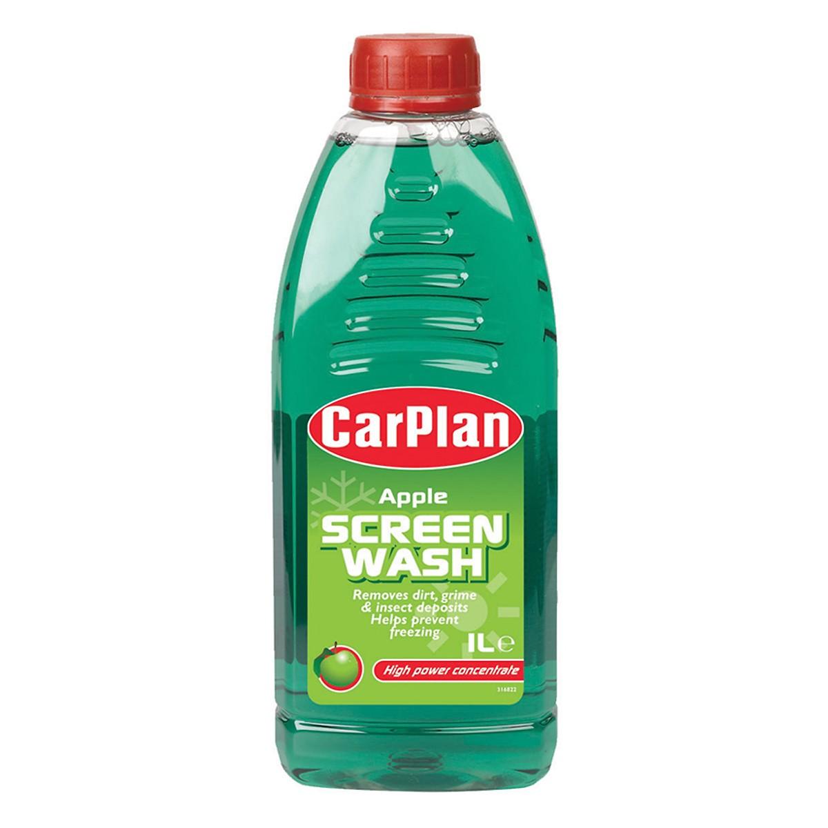 Nước Rửa Kính Lái Và Đèn Pha Carplan Apple Screen Wash (1L)
