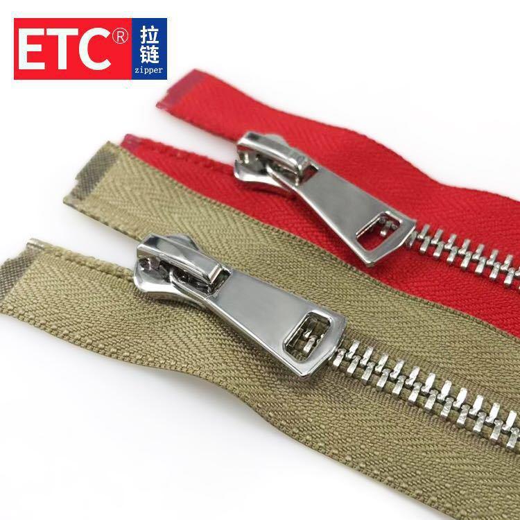 YIMI Dây kéo kim loại Nhà máy dây kéo trực tiếp kim loại mở đuôi dây kéo quần áo dây kéo bạc kim loạ