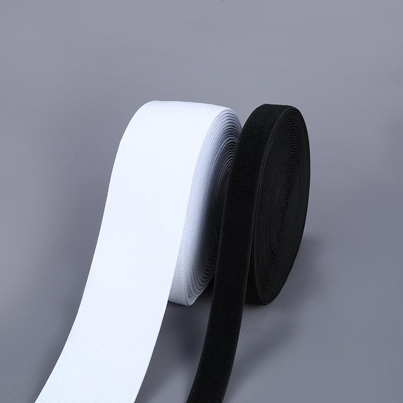 Khoá dán Đen và trắng nylon Velcro tùy chỉnh dây đai phụ kiện quần áo trẻ em bán buôn màu sắc khác c
