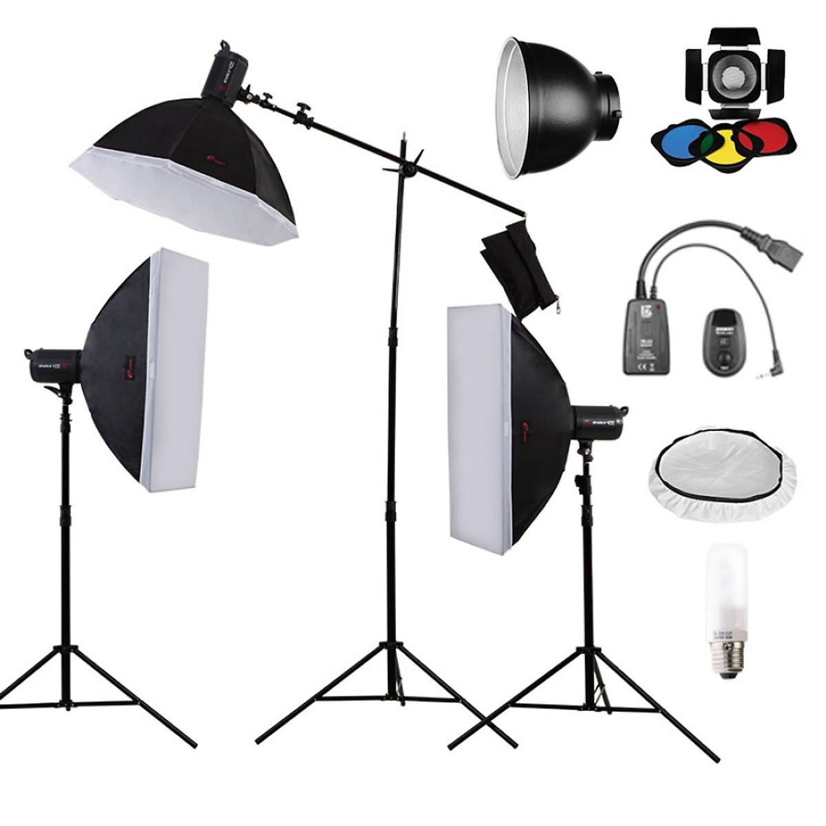 Bộ Đèn Chụp Ảnh Studio Kim Pui SPARKII400W (3 Cái)