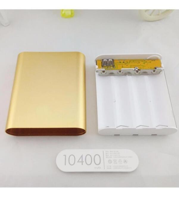 Pin sạc dự bị Khung 4 Pin Sạc Dự Phòng 10400mAh Dùng Pin Laptop 18650 (Bạc)