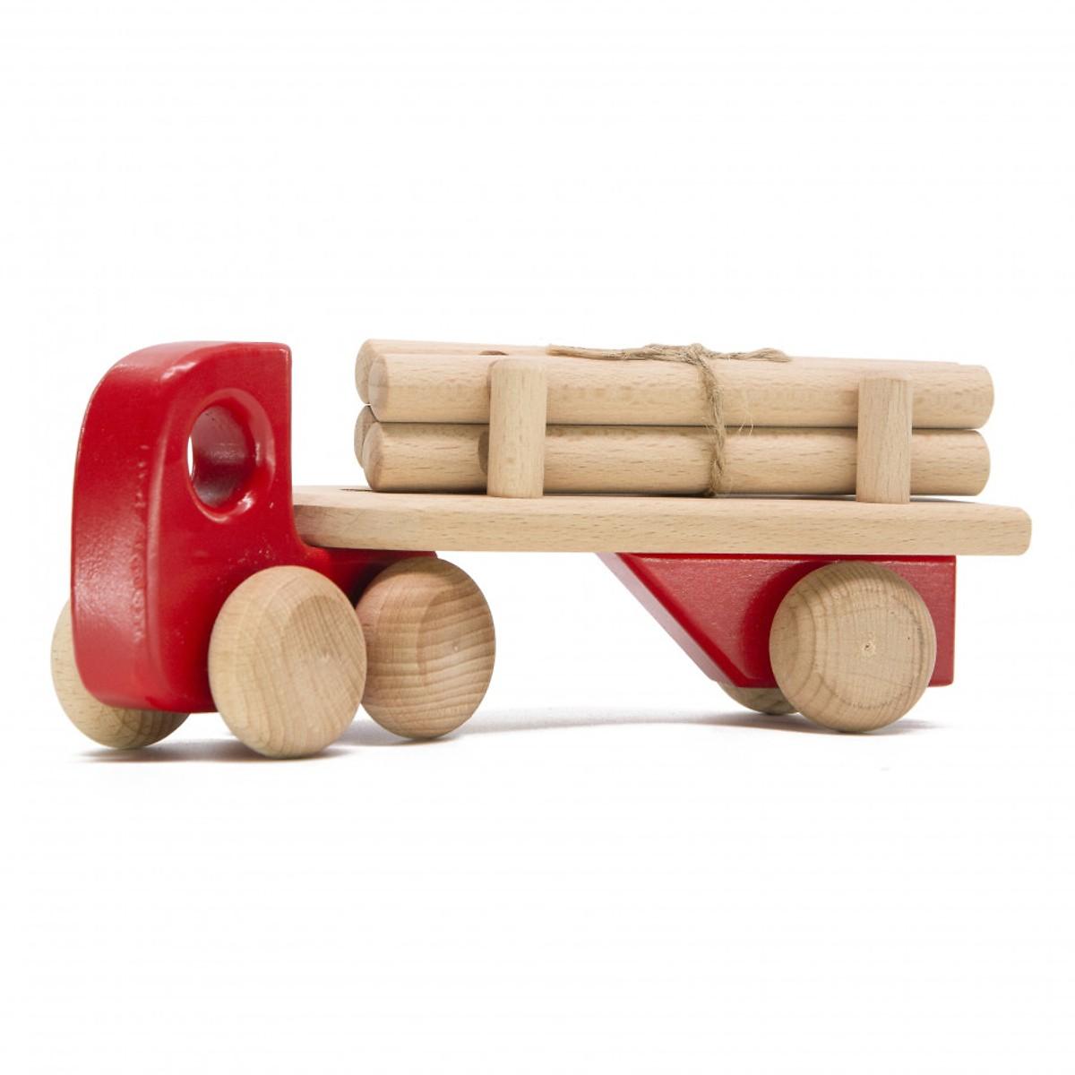 Đồ chơi xe chở gỗ bằng gỗ