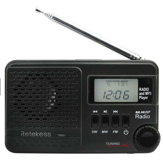 Máy MP3 Radio kĩ thuật số retekess tr601 FM / AM / SW đa chức năng