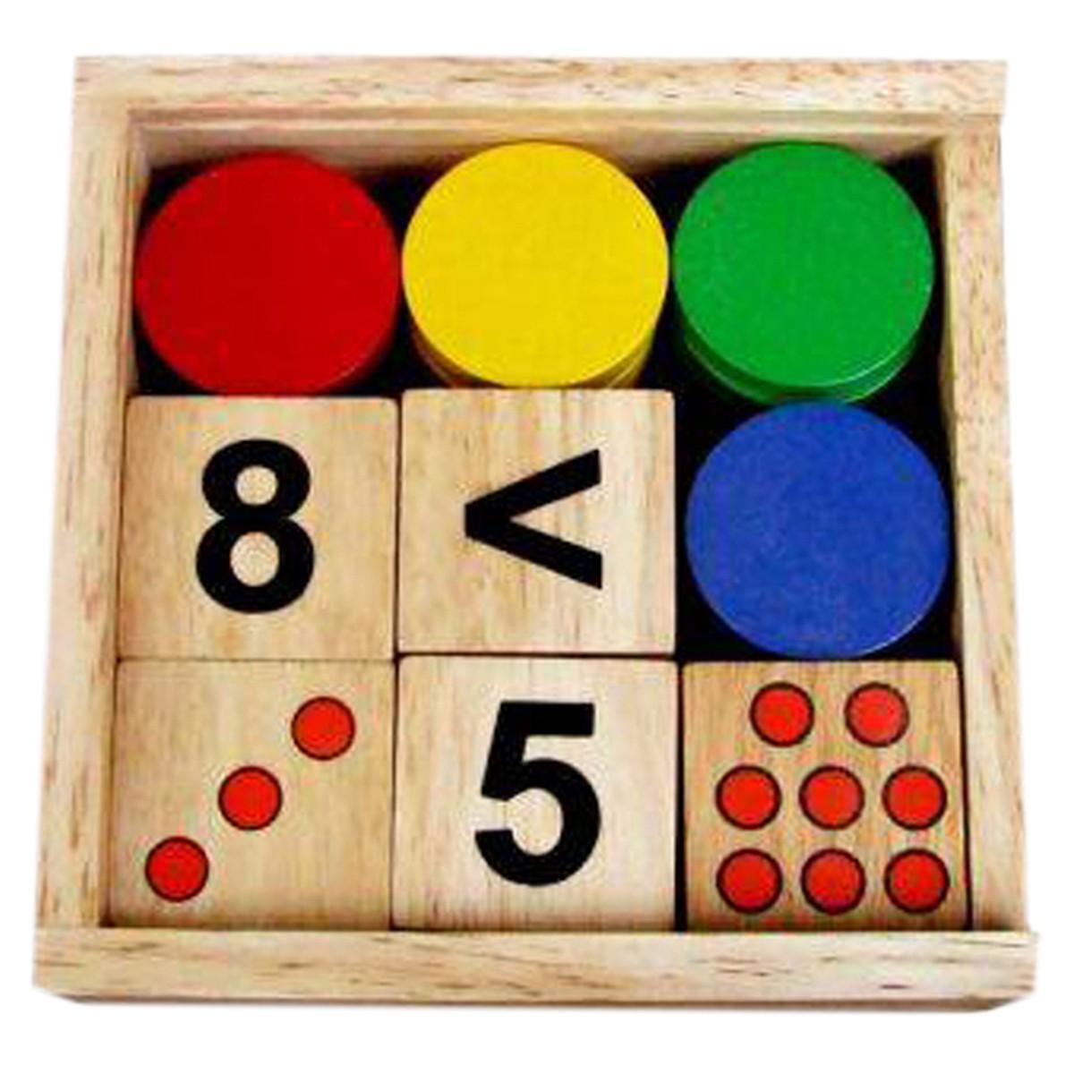 Đồ Chơi Gỗ Winwintoys - Bộ gỗ giúp bé Học Toán 61312