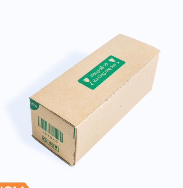 Hộp giấy 50 Thùng Hộp Carton Mã MC0 - 16x6x6 (Cm) + Tặng 25 Decal HÀNG DỄ VỠ