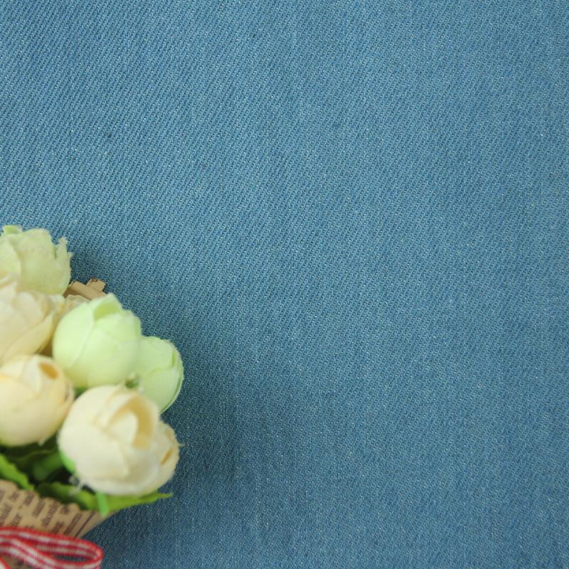 ZISHU Vải Jean 10oz twill cotton 10 * 10 denim giặt quần áo mùa thu và mùa đông denim vải kết cấu cả