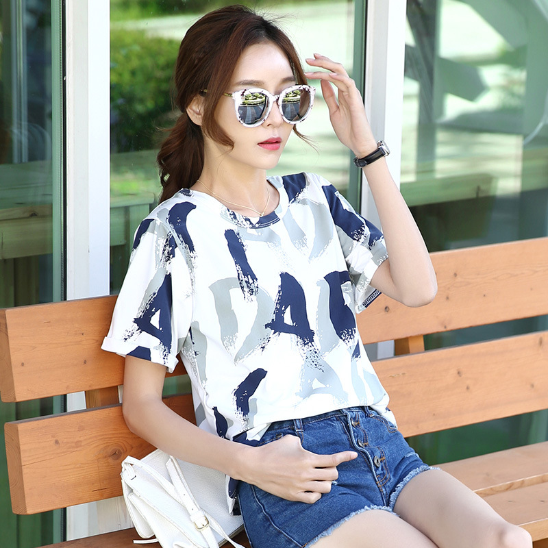 SHISHANGJF Thời trang Áo nữ ngắn tay 2019 hè mới dành cho nữ ulzzang phiên bản Hàn Quốc của áo sơ mi