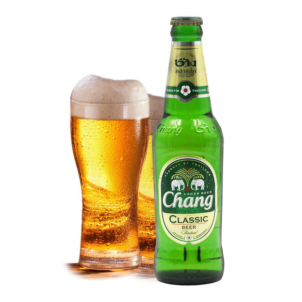 NLSX bia Thái Lan bia bia bia đôi voi bia Thái Lan bia biểu tượng bia 320ml * 24 chai