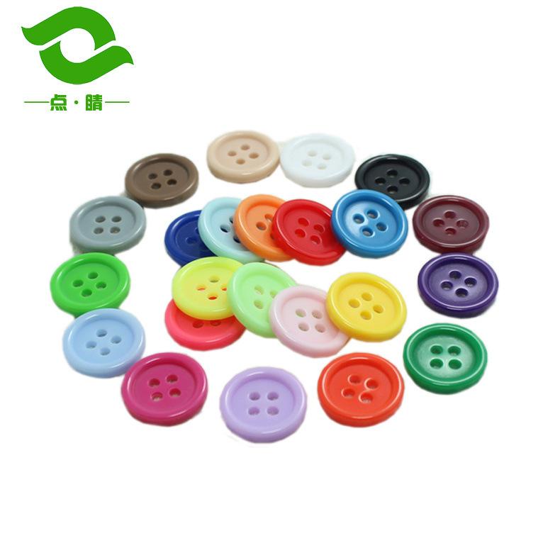 DIANJING Nút Phụ kiện bắt mắt Áo khoác lông nút nhựa mịn nút thời trang Nút tròn màu bán buôn