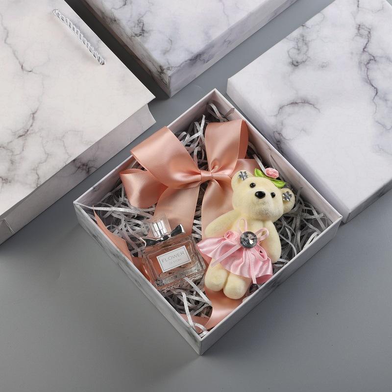OUWEN NLSX bao bì Thế giới mới bao gồm hộp quà tặng hộp quà tặng nướng bao bì mẫu đá cẩm thạch trắng