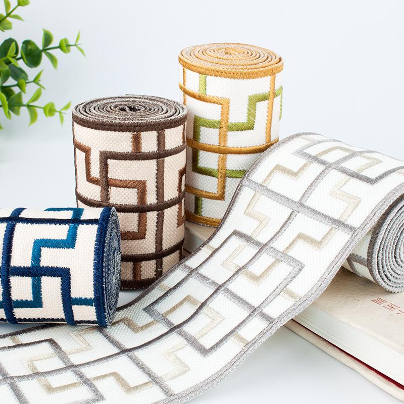 Dây cột rèm Trung Quốc cao cấp đa năng thêu rèm ren ruy băng nhà máy trực tiếp phụ kiện rèm thêu ren