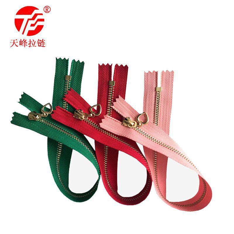 LALASHOU Dây kéo kim loại 3 # đóng đuôi mạ vàng túi dây kéo bạc có thể được tùy chỉnh bất kỳ màu sắc
