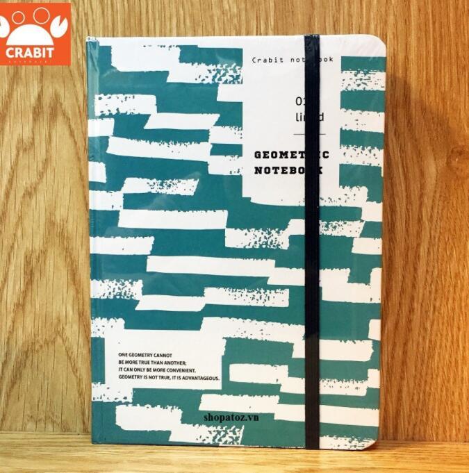 Sổ tay ruột Dot Crabit Notebuck Geo Xanh