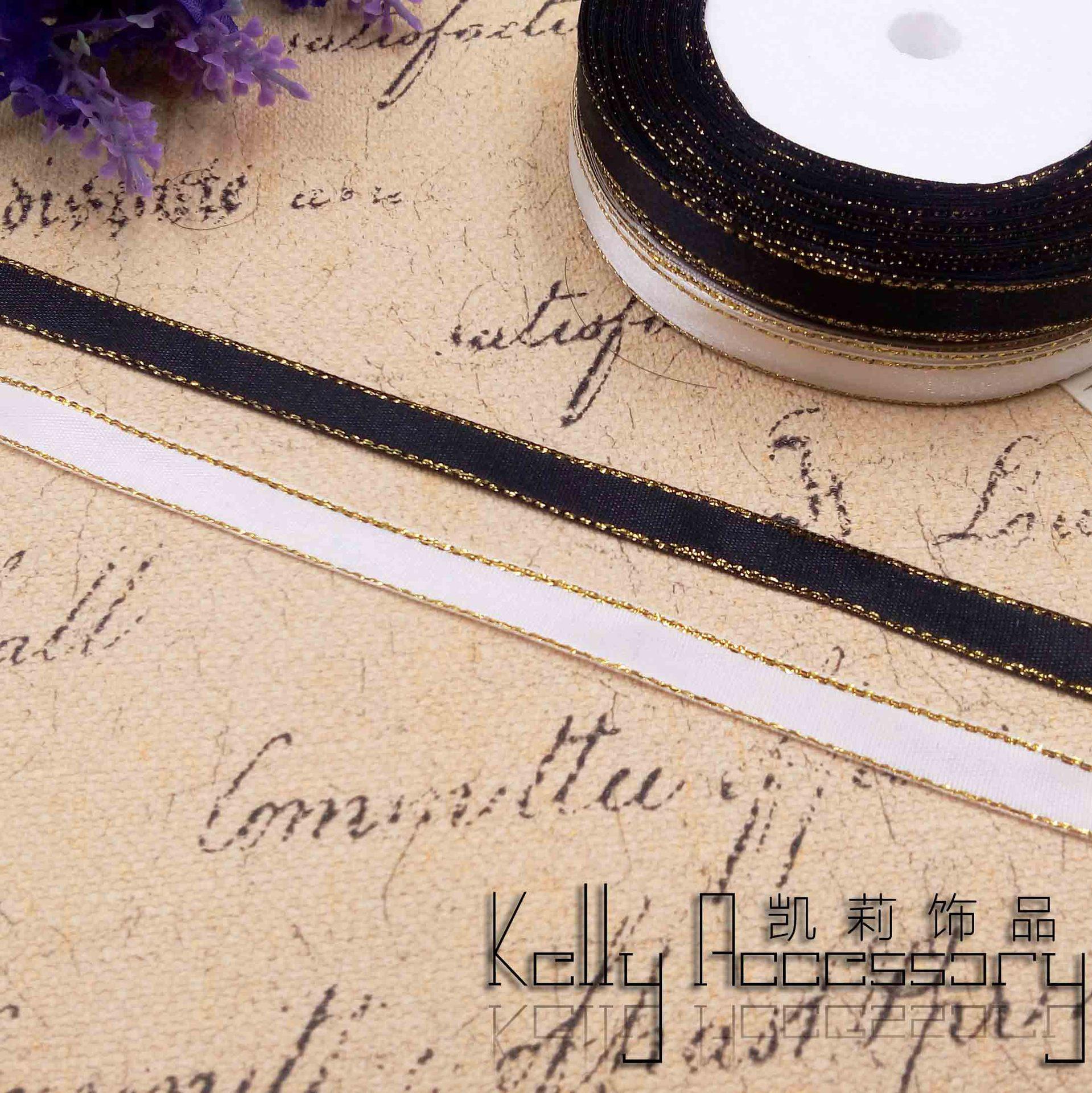 KAILI đai , dây , chỉ Dây chuyền vàng 1cm ruy băng hộp quà tặng bao bì ruy băng hướng dẫn sử dụng vậ