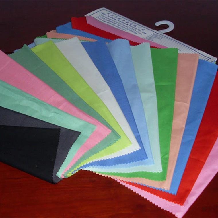 Vải mộc sợi hoá học Nhà máy trực tiếp 45s hóa chất sợi vải màu xám vải polyester nguyên chất tc túi