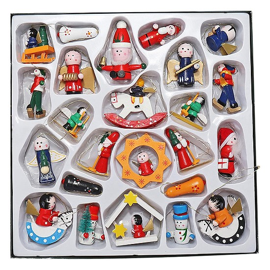 Đồ Trang Trí Giáng Sinh Bằng Gỗ Mini