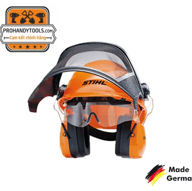 Nón bảo hộ cưa cắt cỏ STIHL INTEGRA có kính bảo hộ , bịt tai - Made in Germany