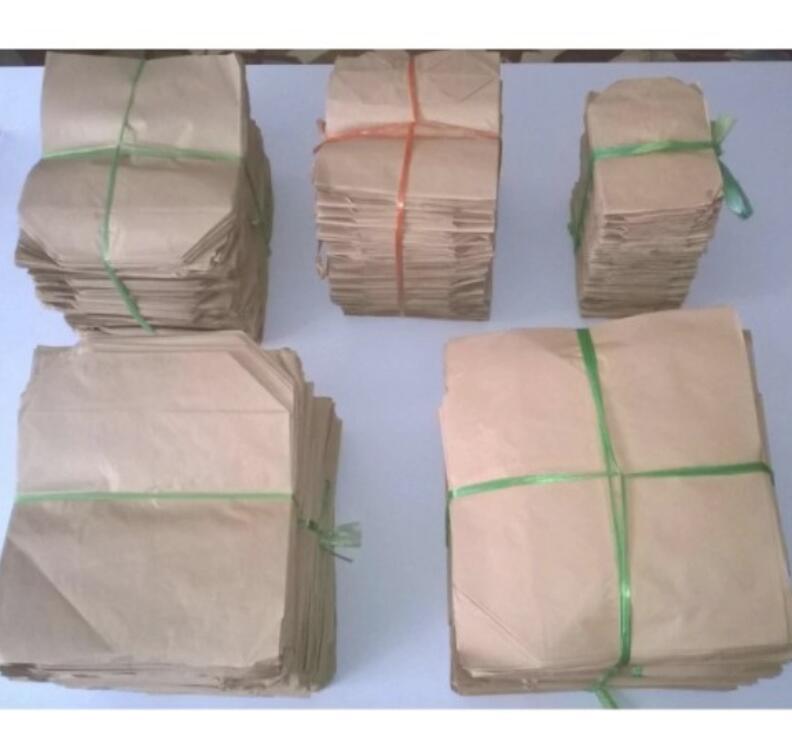 Túi giấy 20 Túi Giấy Xi Măng Cỡ 17 X 20 Cm, Đáy 7 Cm