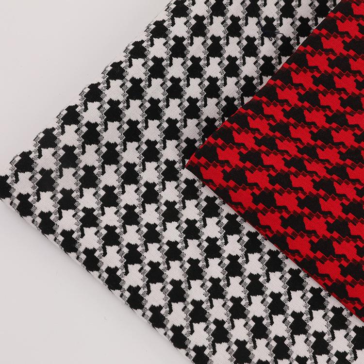 Vải Yarn dyed / Vải thun có hoa văn Áo sơ mi vải dệt thoi houndstooth sợi nhuộm màu của phụ nữ