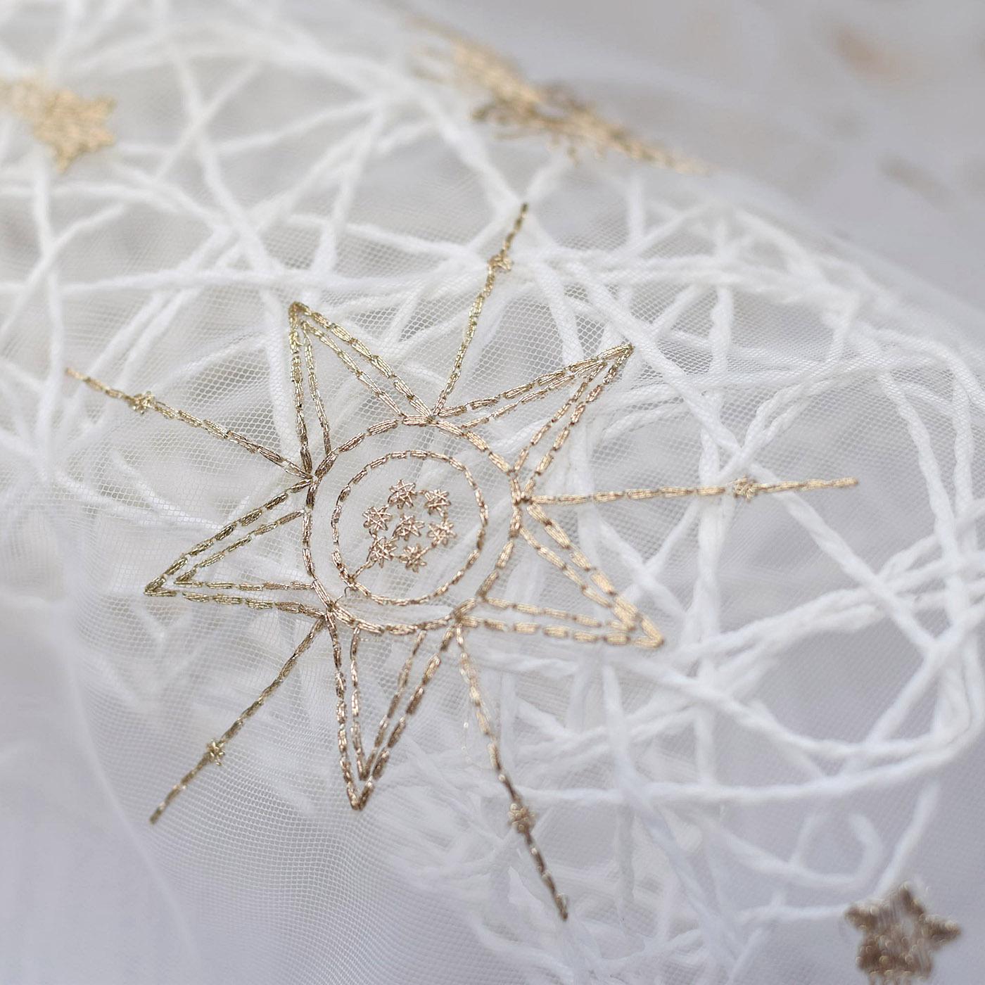 FANAKI Vải thêu tại chỗ Ngôi sao lớn chấm nhỏ thêu vải thêu Váy nữ thêu vải bán buôn