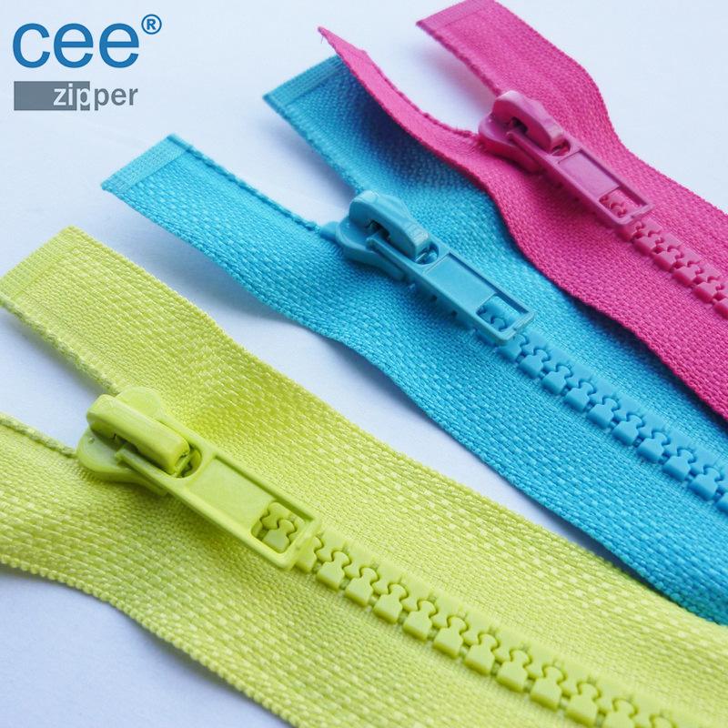 CEE Dây kéo nhựa Chuyên sản xuất dây kéo quần áo thông qua thử nghiệm môi trường Oeko-tex100 EU 5 #