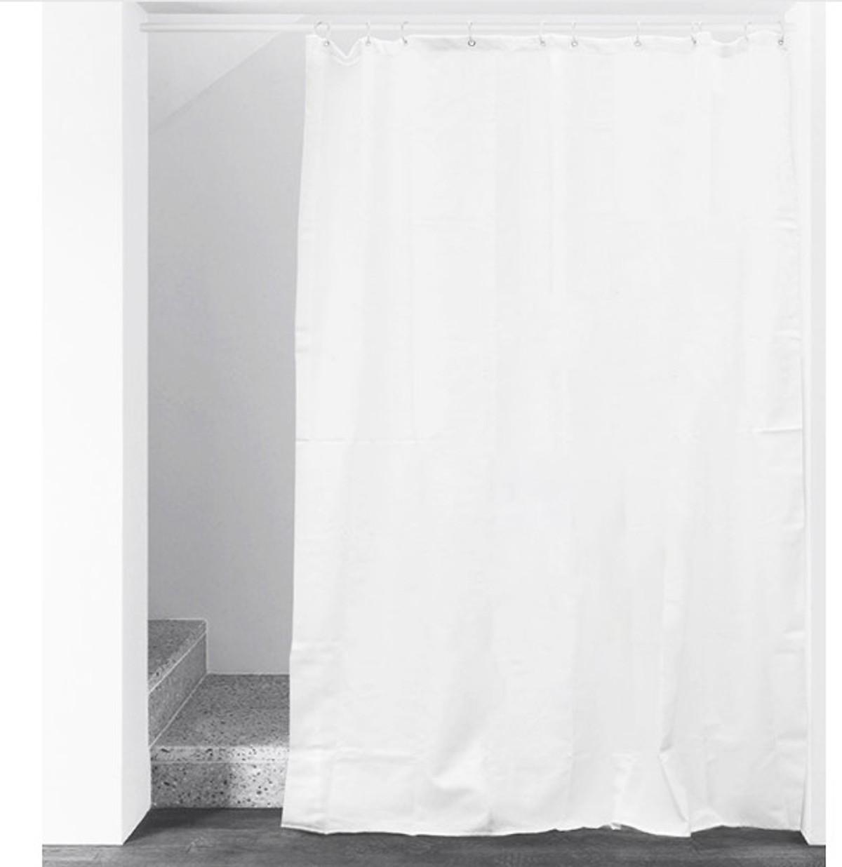 Rèm Phòng Tắm / Rèm Cửa Sổ Họa Tiết Trắng Trơn ( 180cm X 180cm ) Loại 1