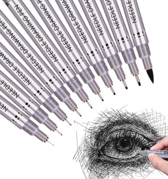 Bút nước Bút bi mực đen không thấm nước chuyên dụng ( 0.01mm )