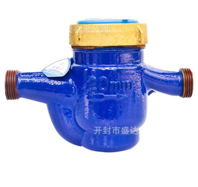 Đồng hồ nước DN20 rotor loại dịch lá mét cao mét nước nhỏ giọt vỏ 4 mét đo mức độ mét