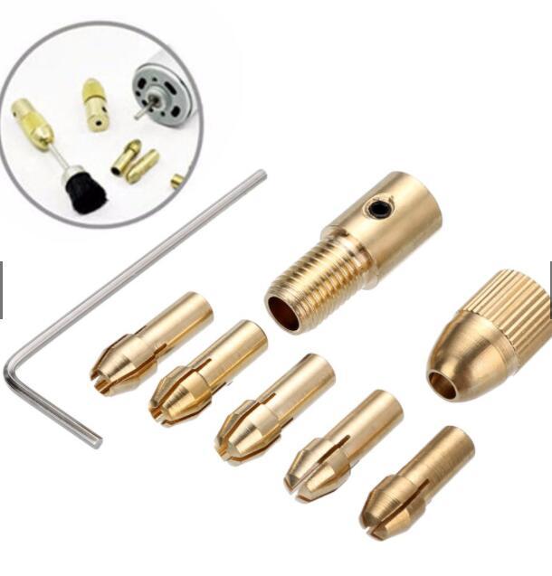 Đầu khoan Set ngàm nối đầu mũi khoan 0.5-3mm và phụ kiện 8 món tiện dụng