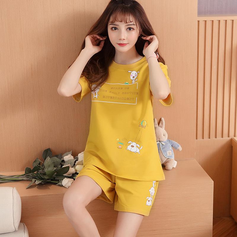 Đồ ngủ ngắn tay nữ mùa hè Phụ nữ mới phần mỏng chất lượng cao cotton phục vụ nhà quần short phù hợp