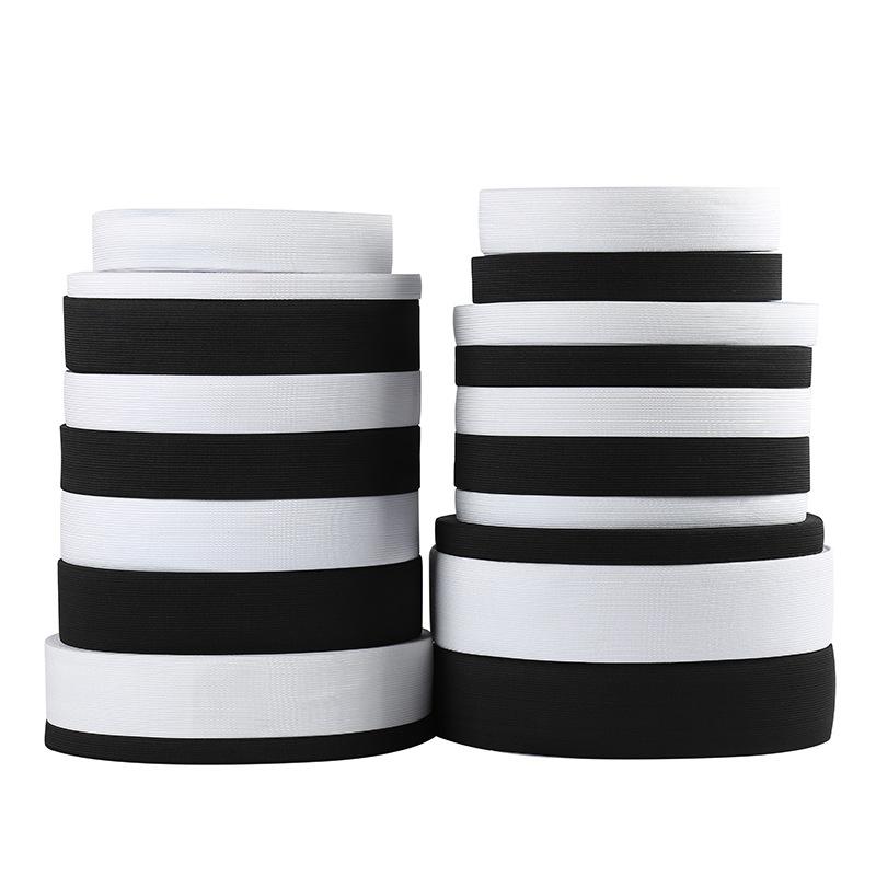 Dây thun Nhà máy sản xuất trực tiếp polyester bán buôn sợi thun rộng 0,4cm-6,0cm.
