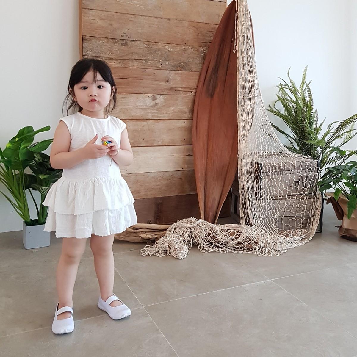 Váy Babydoll Trẻ Em NEWKIZ DR#1 - Quần áo trẻ em Phong Cách Hàn Quốc