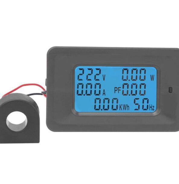 Đồng hồ đo điện Đồng hồ đo công suất hiển thị 6 thông số A, V, W, KW, Hz, Cos φ Công tơ điện tử đo c