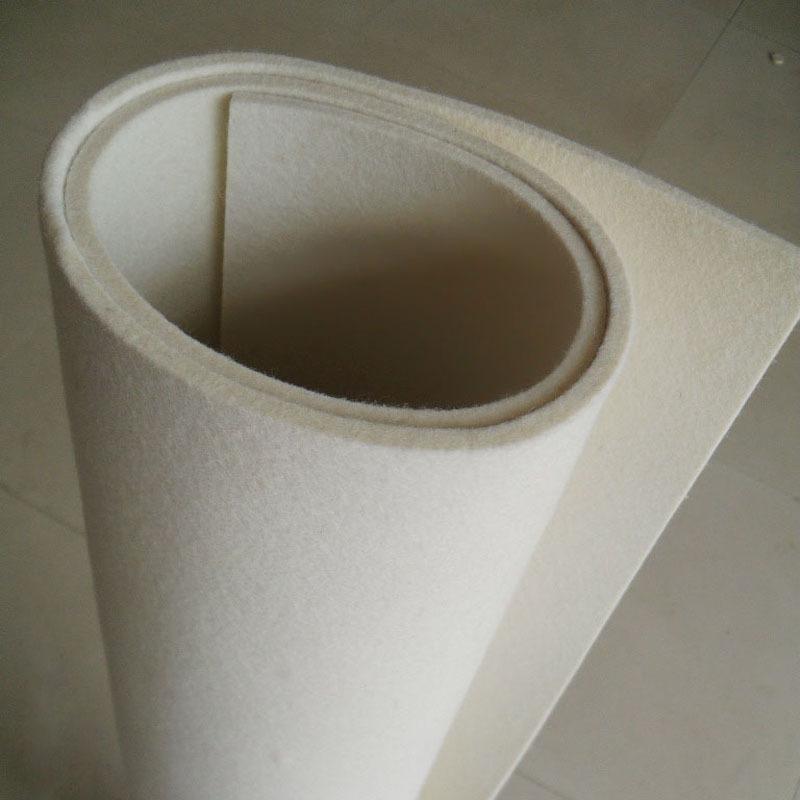 HAOYUE thảm lông Len trắng mịn Nhà máy trực tiếp hấp thụ dầu đệm con dấu cảm thấy thảm công nghiệp k