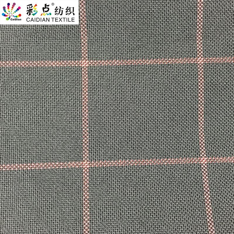 CAIDIAN Vải pha sợi TR mùa thu và mùa đông vải kẻ sọc rộng nhà dệt vải twill dệt vải kẻ sọc vải hóa