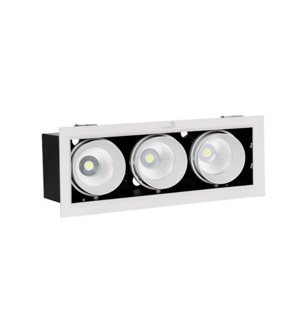 Đèn rọi ĐÈN LED SPOTLIGHT HỘP ÂM TRẦN RỌI HỘP - KINGLED 30W (GL-3*10-V334)