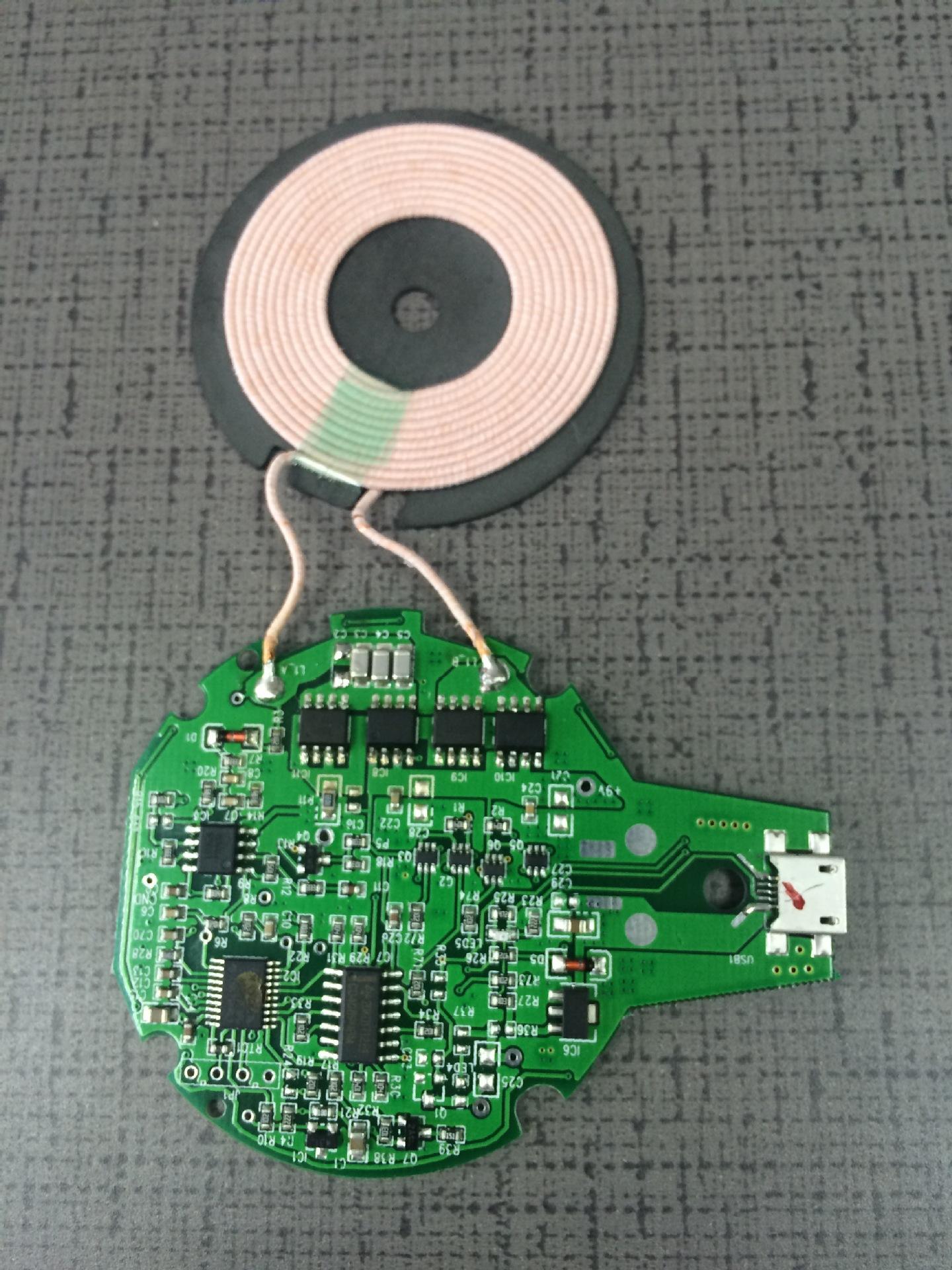 Mô-đun sạc không dây sạc nhanh 10W PCBA nhận điện thoại di động vá tinh thể K9 tùy chỉnh phần cứng