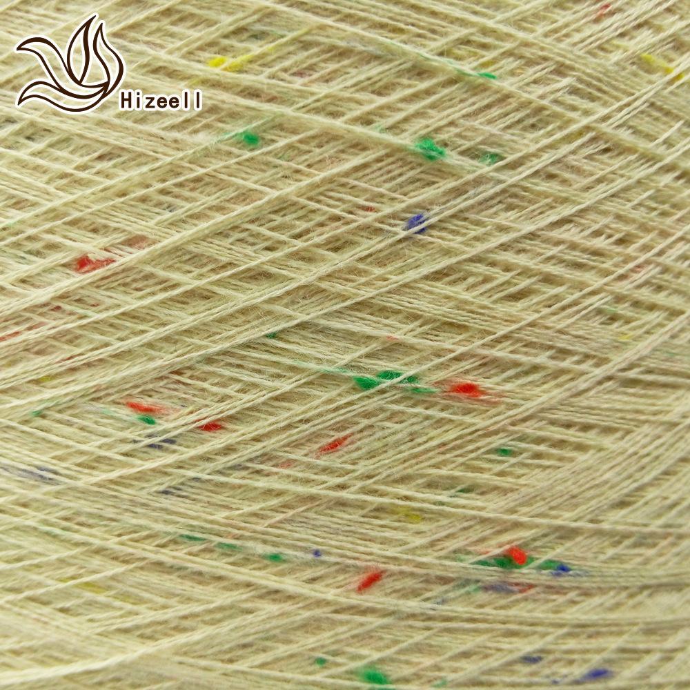 Hizeell Sợi Fancy 32 điểm mùa xuân và mùa hè sợi lạ mắt 98% cotton 2% polyester điểm màu sợi bông cu