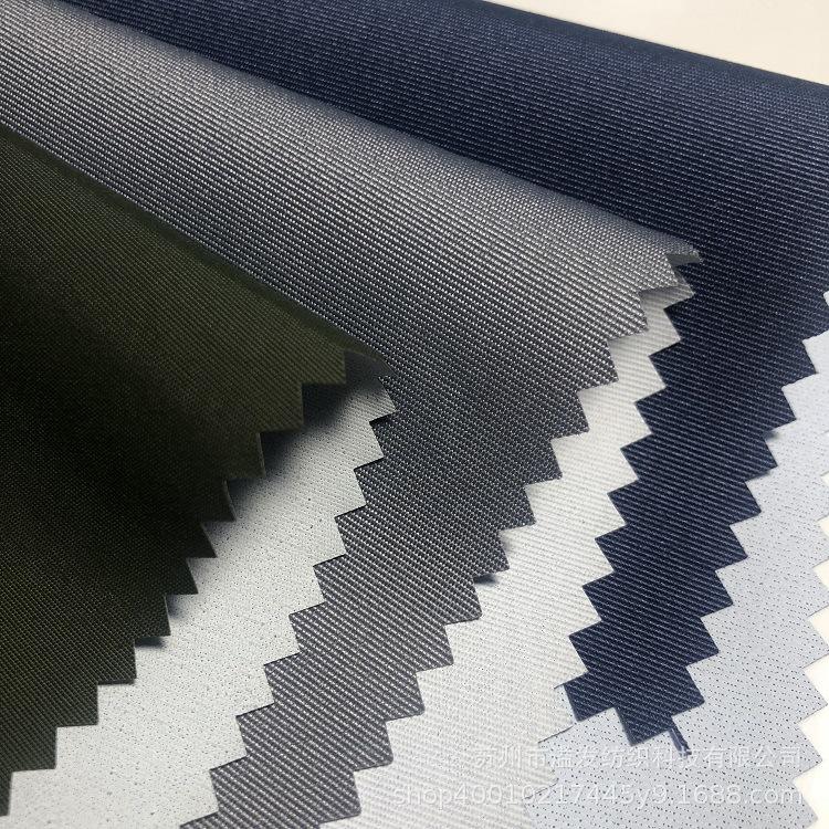 YF Vật liệu chức năng Quần áo ngoài trời quần áo leo núi vải chức năng 320D tháp nhung PU trắng thoá